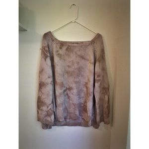 pink (blush) American Eagle sweater w/ bell sleeve